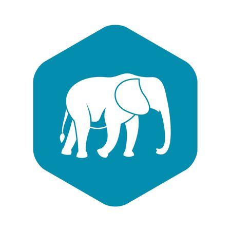 Ilustración de Wild elephant icon, simple style - Imagen libre de derechos