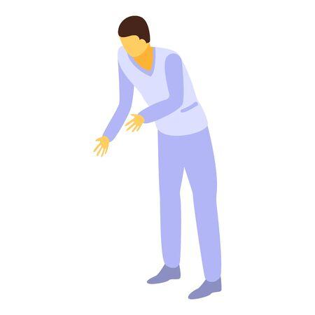 Ilustración de Man nurse icon. Isometric of man nurse vector icon for web design isolated on white background - Imagen libre de derechos