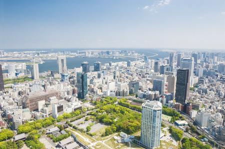 Foto de Aerial view of Tokyo city in daytime - Imagen libre de derechos