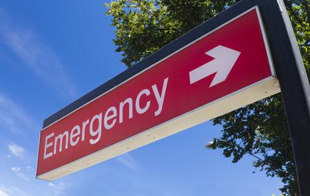 Foto de Emergency sign of a hospital - Imagen libre de derechos