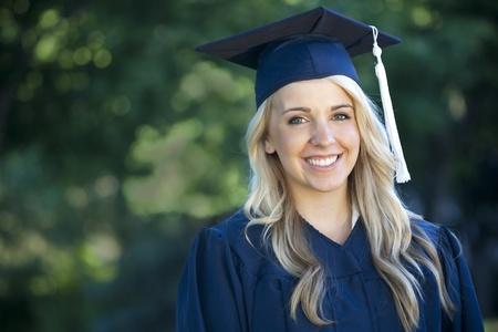 An attractive female graduate portrait