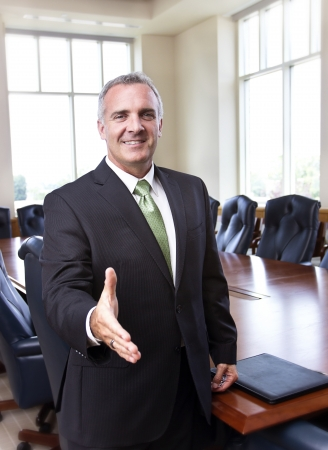 Photo for Businessman ready to shake hands - Royalty Free Image