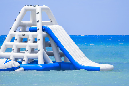 Photo for Inflatable slide at a Caribbean Island resort - Royalty Free Image