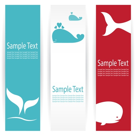 Illustration for Vector image of an whale banners . - Royalty Free Image