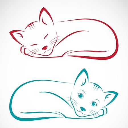 Ilustración de  image of an cat on white background  - Imagen libre de derechos