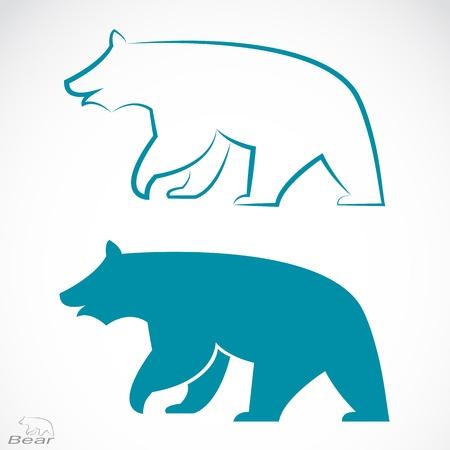 Illustration pour image of an bear on white background  - image libre de droit