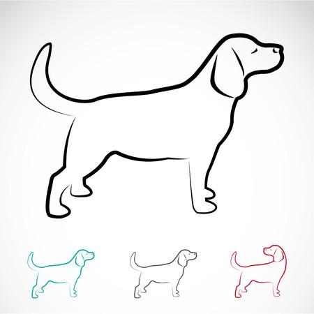 Illustration pour Vector image of a dog labrador on white background - image libre de droit
