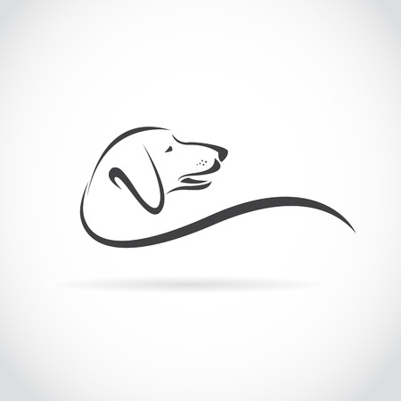 Illustration pour Vector image of an dog  Dachshund  on white background - image libre de droit