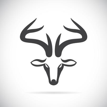 Ilustración de Vector images of deer head on a white background. - Imagen libre de derechos