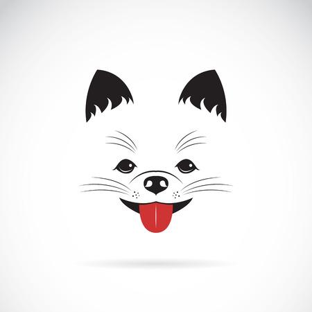Ilustración de Vector image of an pomeranian dog on white background - Imagen libre de derechos