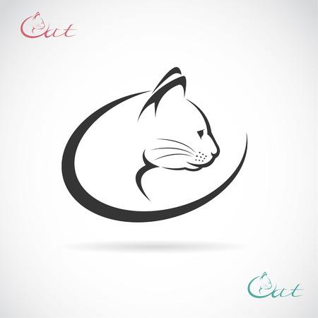 Ilustración de Vector image of an cat design on white background. - Imagen libre de derechos