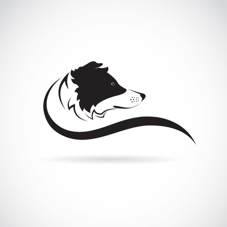 Ilustración de Vector image of an border collie dog on white background - Imagen libre de derechos