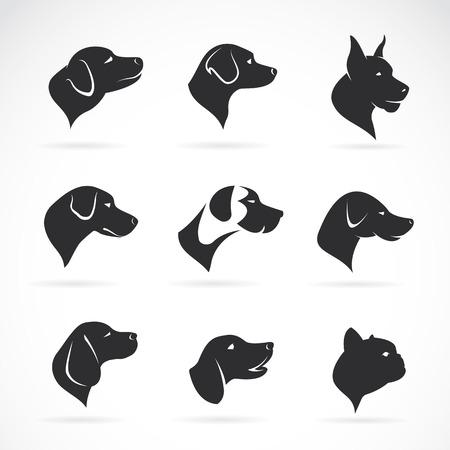 Ilustración de Vector image of an dog head on white background - Imagen libre de derechos
