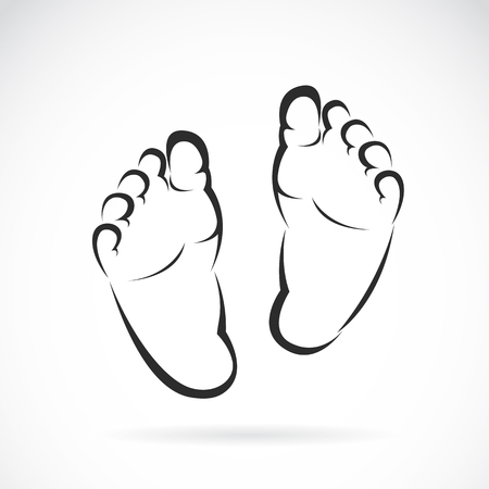 Photo for Vector image of Baby foot design on white background - Royalty Free Image