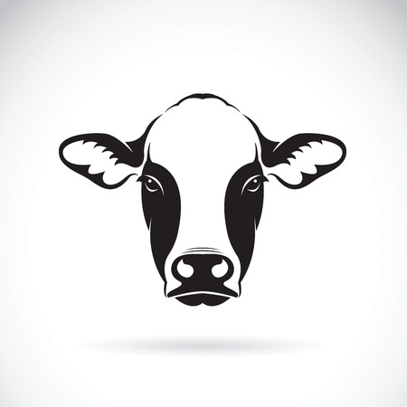 Ilustración de Vector of cow face design on white background. Farm Animal. - Imagen libre de derechos