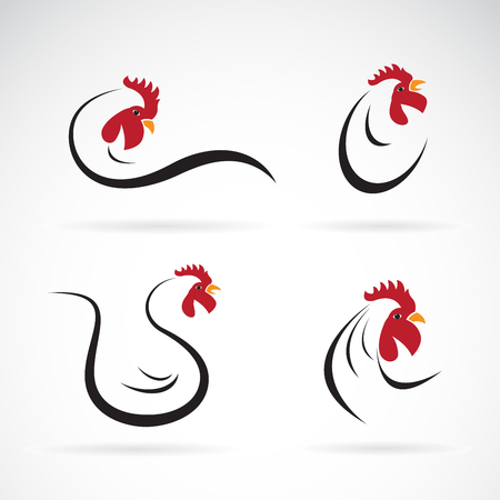 Illustration for Vector of an chicken design on white background. Farm Animals. Rooster logo. Cock. - Royalty Free Image