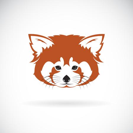 Illustration pour Vector of red panda head design on white background. - image libre de droit
