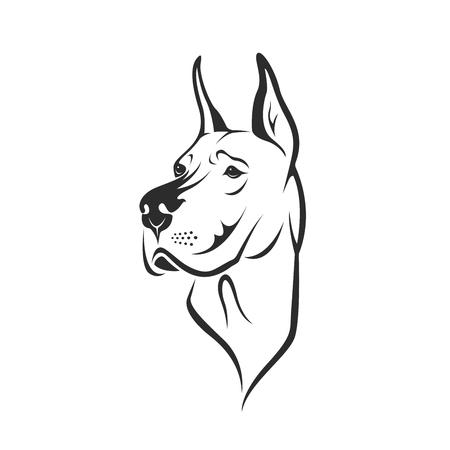 Ilustración de Dog head - Imagen libre de derechos