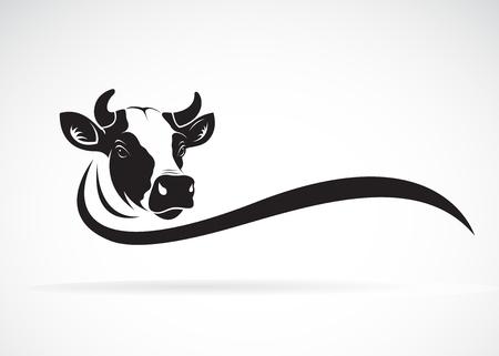 Illustration pour Vector of cow head design on white background, Farm animal, Vector illustration. Easy editable layered vector illustration. - image libre de droit
