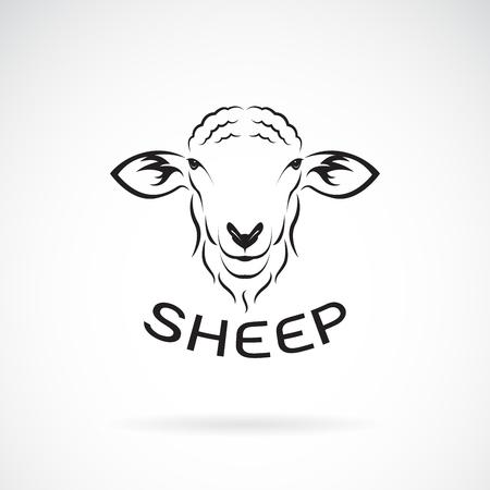 Ilustración de Vector of sheep head design on white background. Wild Animals. Easy editable layered vector illustration. - Imagen libre de derechos