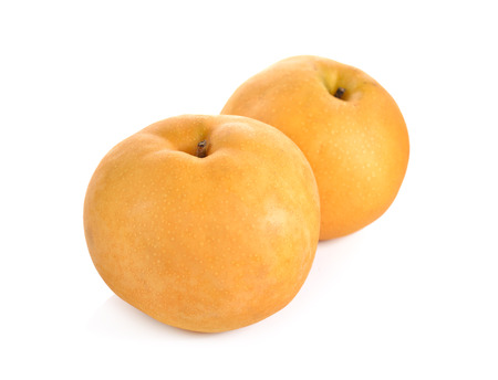 Photo pour snow pear or Fengsui pear on white background - image libre de droit