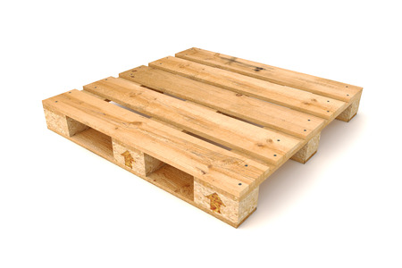 Photo for Wooden pallet Isolated on white background. - Royalty Free Image