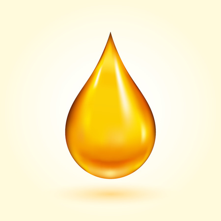 Ilustración de Golden Oil Drop - Imagen libre de derechos