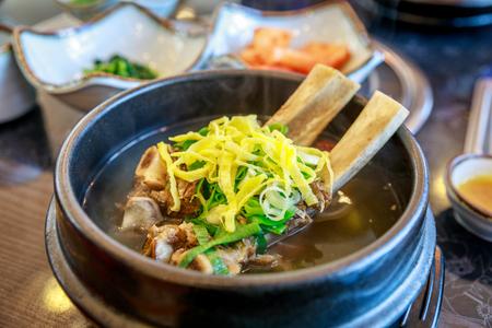 Photo for galbitang, beef, meat, bone, Short Rib Soup - Royalty Free Image