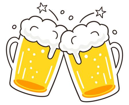 Illustration pour Cheers beer - image libre de droit