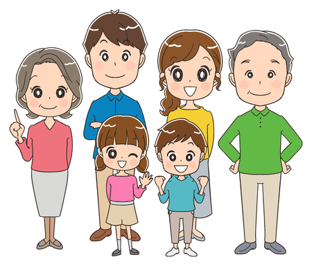 Illustration for Three generations family - Royalty Free Image