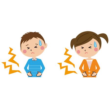 Ilustración de kids have stomachaches - Imagen libre de derechos