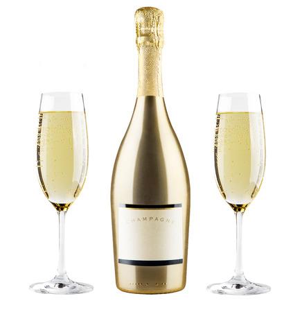 Photo pour Beautiful picture of a bottle of champagne - image libre de droit