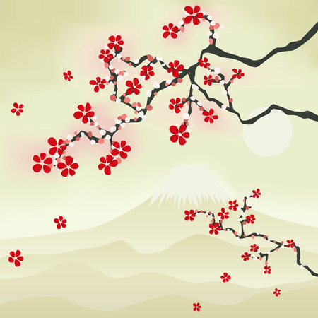Japanese Cherry Blossom. Illustration