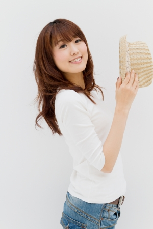 Beautiful young woman. Portrait of asian woman.
