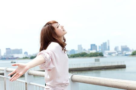Beautiful young women of summer  Portrait of asian