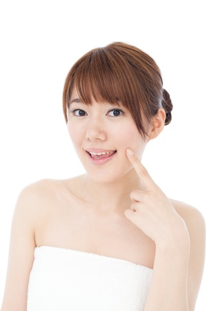 Beautiful young woman  Portrait of asian