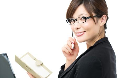 Foto de Beautiful businesswoman on white background - Imagen libre de derechos