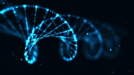 Foto de abstract technology science concept, DNA code structure with glow. Science concept background. Nano technology. - Imagen libre de derechos