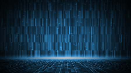 Photo pour Abstract digital matrix background. Futuristic big data information technology concept. Motion graphic for abstract data center. - image libre de droit