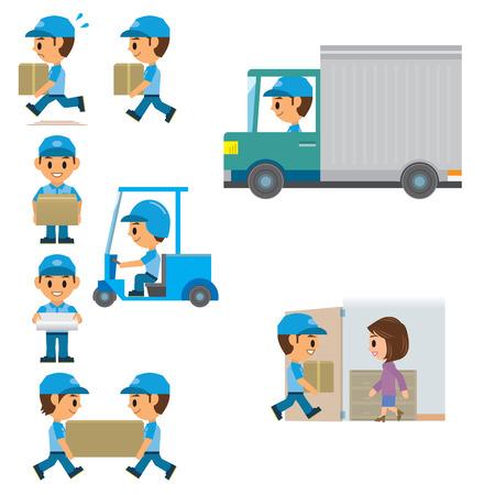 Illustrazione per Delivery man - Immagini Royalty Free