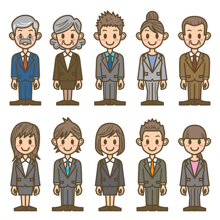 Illustration pour business people - image libre de droit