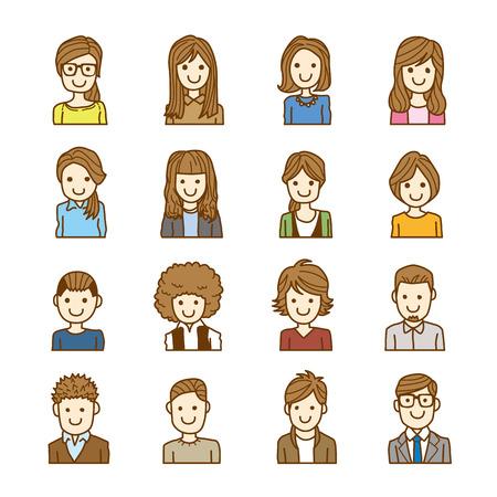 Ilustración de people face - Imagen libre de derechos