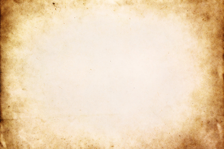 Photo for Old brown paper texture with vignette - Royalty Free Image