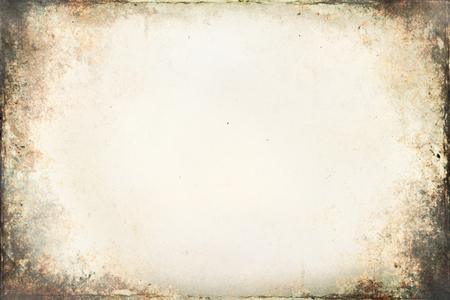 Photo pour Old brown paper texture with vignette. - image libre de droit