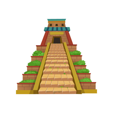 Illustration for Mayan Pyramid. Vector illustration for games. - Royalty Free Image