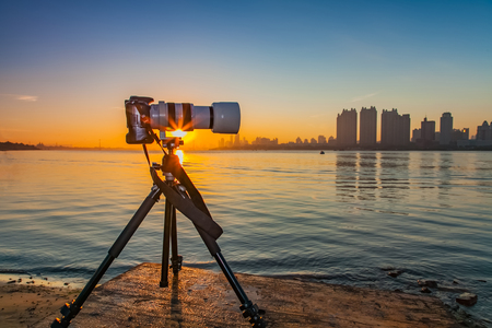 Photo for Songhua river photography equipment landscape - Royalty Free Image