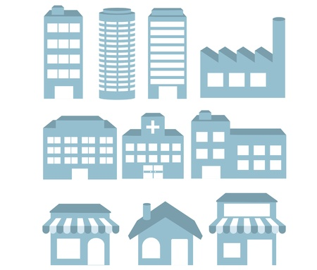 Foto de Illustration - Building icons set  Architectures image  vector - Imagen libre de derechos