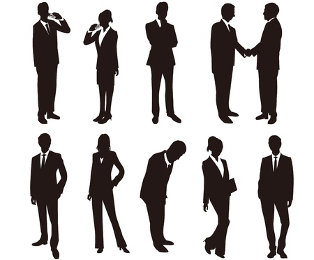 Illustration for Business woman silhouettes - Royalty Free Image