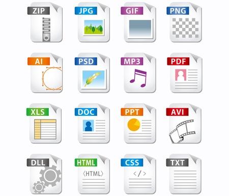 Ilustración de web file labels icon set  - Imagen libre de derechos