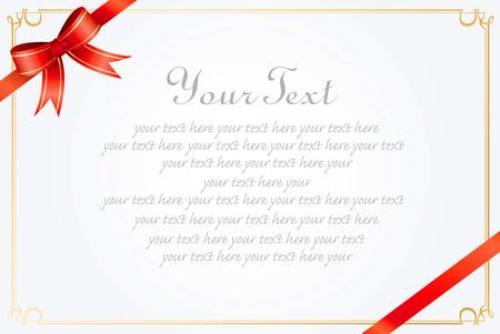 Illustration pour message card ribbon Vector  - image libre de droit